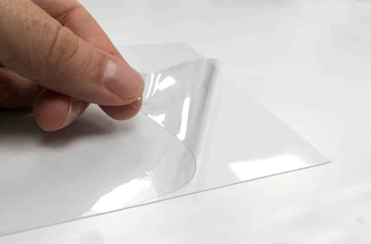 CLEAR SELF CLING PVC