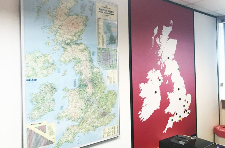 Magnetic wall map uk wallace print large format digital magnetic map graphic birmingham gumiabroncs Choice Image