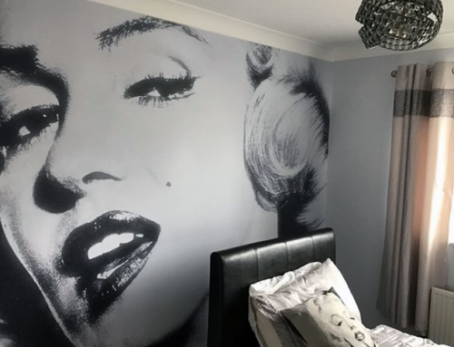 Printed Wallpaper Mural Install London