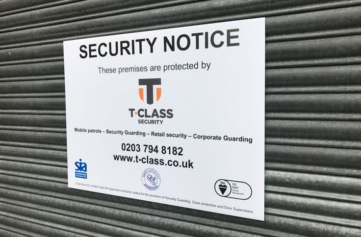 security-site-signage-london